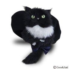 画像1: 猫かぶらニャいと!ベレー(黒) (1)