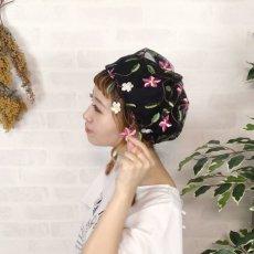 画像8: お花刺繍すみません(黒) (8)
