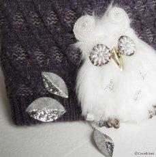 画像8: Owl-OK!ニット(ブルーグレー) (8)