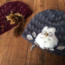 画像10: Owl-OK!ニット(ブルーグレー) (10)