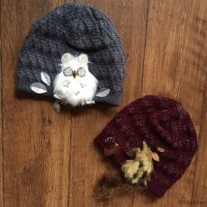 画像9: Owl-OK!ニット(ブルーグレー) (9)