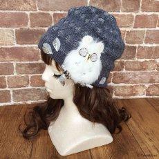 画像2: Owl-OK!ニット(ブルーグレー) (2)