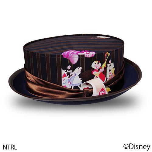 画像1: 不思議の国のアリス 帽子「クロッケーはできるかい?」(ネイビー) (1)