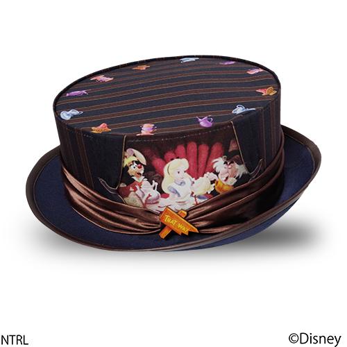 画像1: 不思議の国のアリス 帽子「何でもない日バンザイ!」(ネイビー) (1)