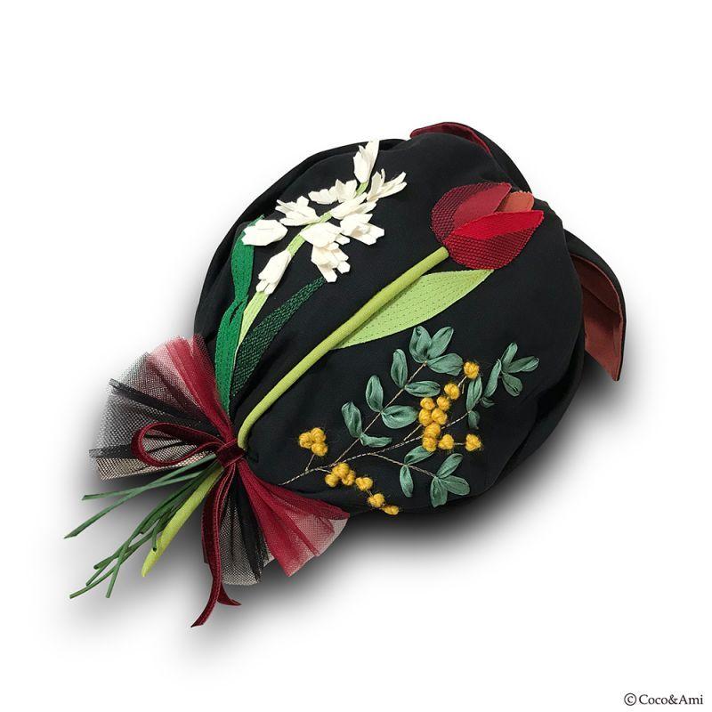 画像1: 花束〜ん(ブラック) (1)