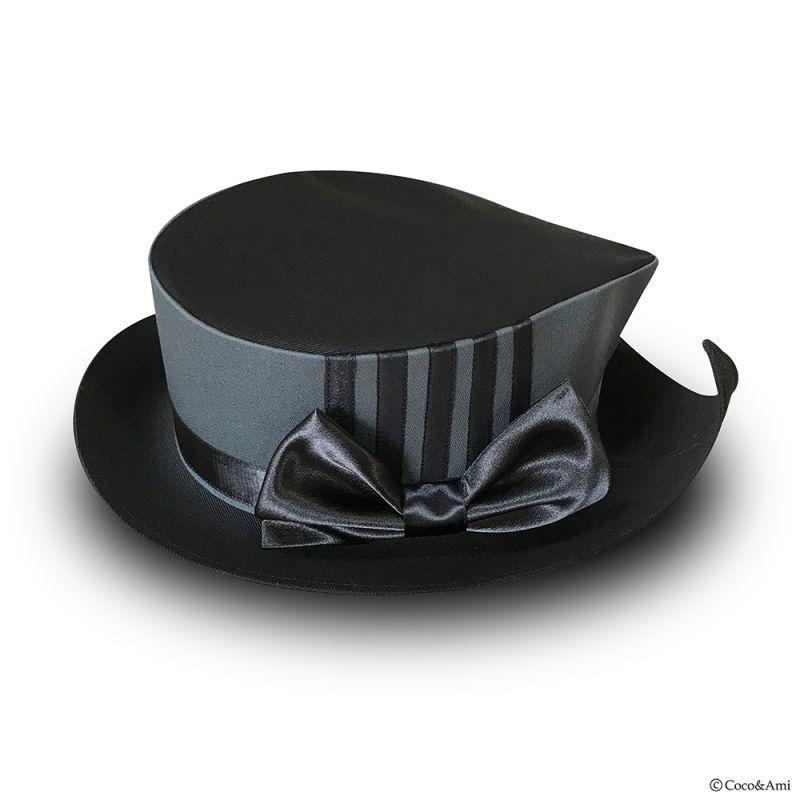 画像1: 木枯らし葉っぱ帽子(黒) (1)