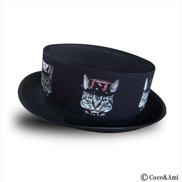 画像1: 猫かぶらニャいと!モダンハット(黒) (1)