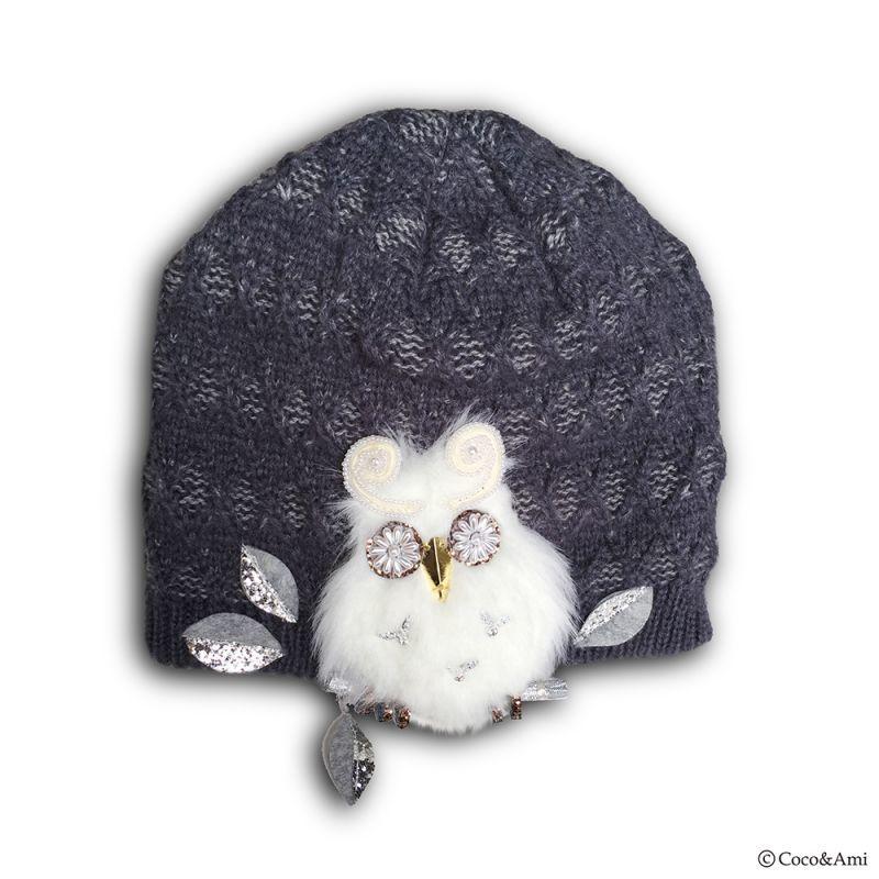 画像1: Owl-OK!ニット(ブルーグレー) (1)